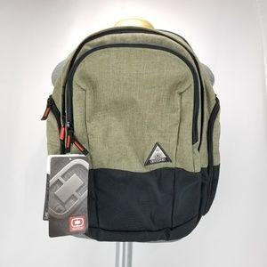 Ogio Clark Olive Backpack Bookbag Daypack w Padded